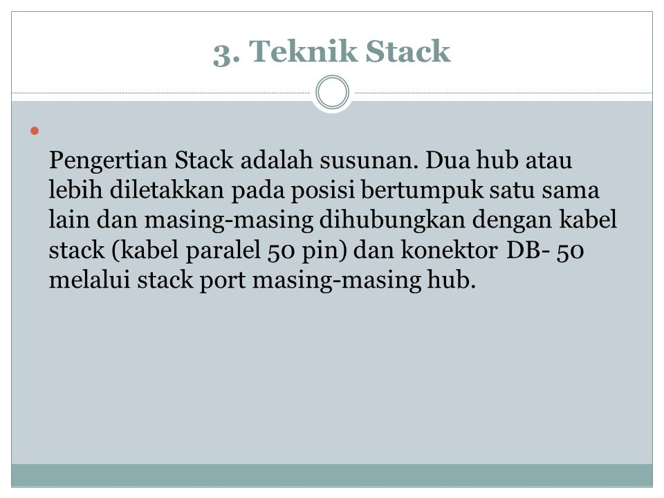 3. Teknik Stack