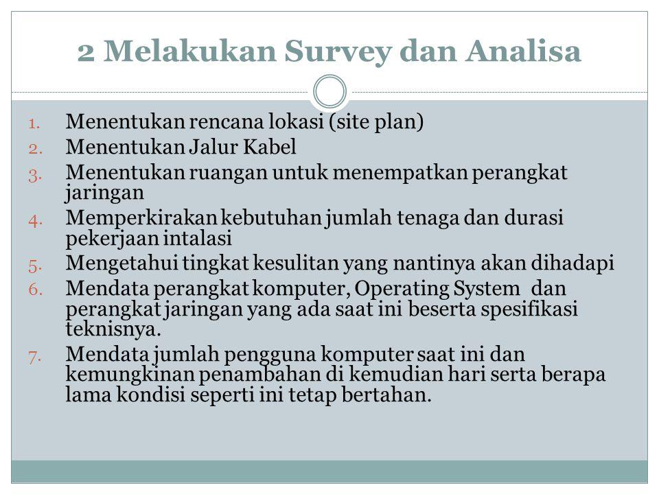 2 Melakukan Survey dan Analisa