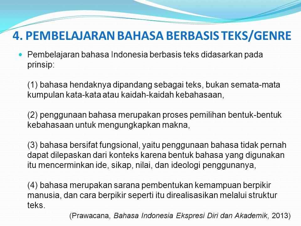 4. PEMBELAJARAN BAHASA BERBASIS TEKS/GENRE