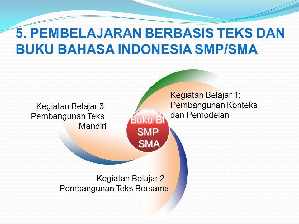 5. PEMBELAJARAN BERBASIS TEKS DAN BUKU BAHASA INDONESIA SMP/SMA