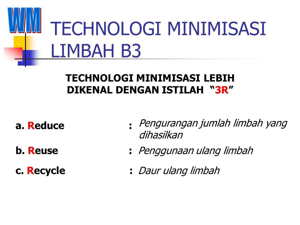 TECHNOLOGI MINIMISASI LIMBAH B3