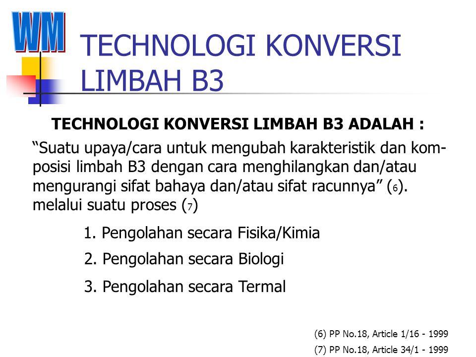 TECHNOLOGI KONVERSI LIMBAH B3