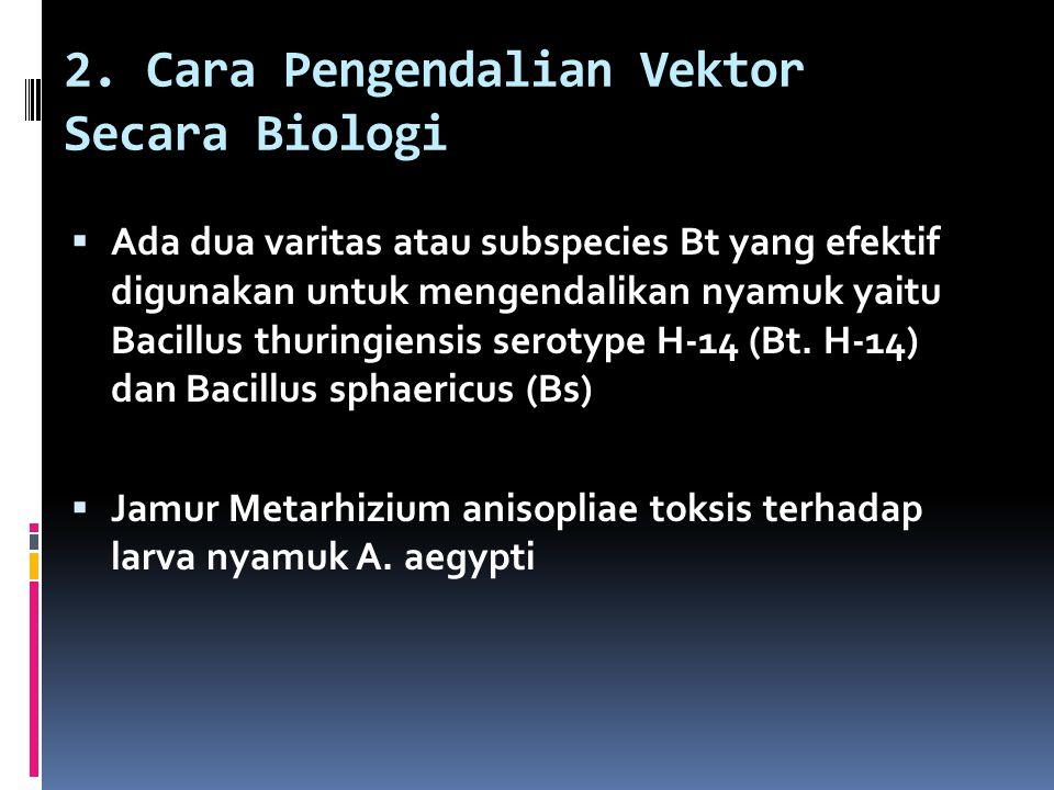 2. Cara Pengendalian Vektor Secara Biologi