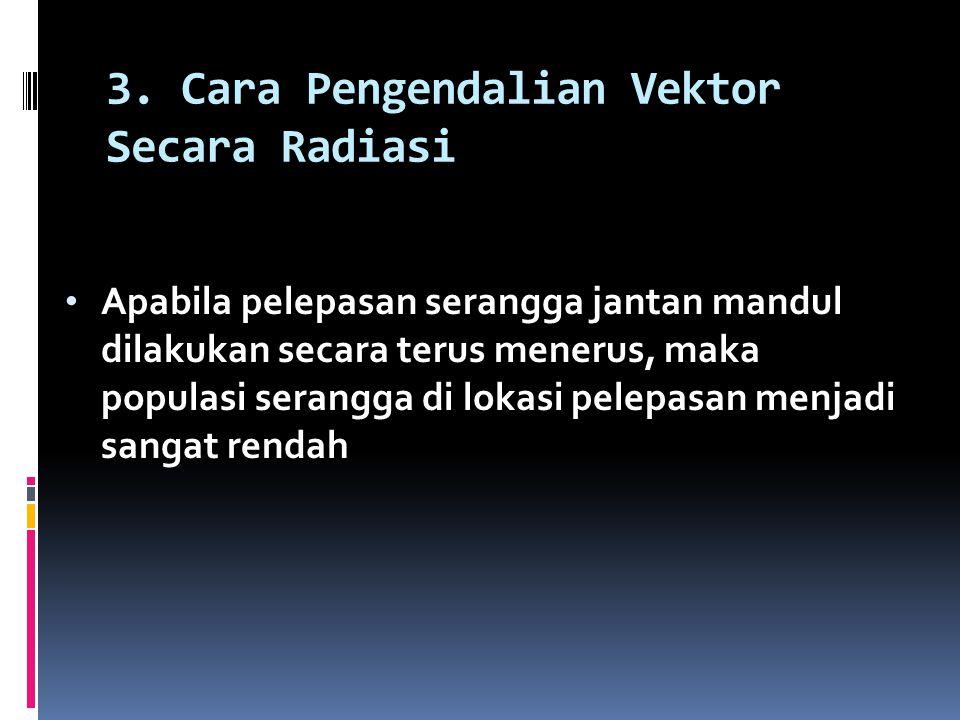 3. Cara Pengendalian Vektor Secara Radiasi