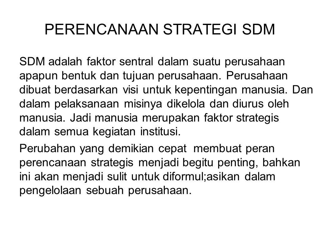 PERENCANAAN STRATEGI SDM
