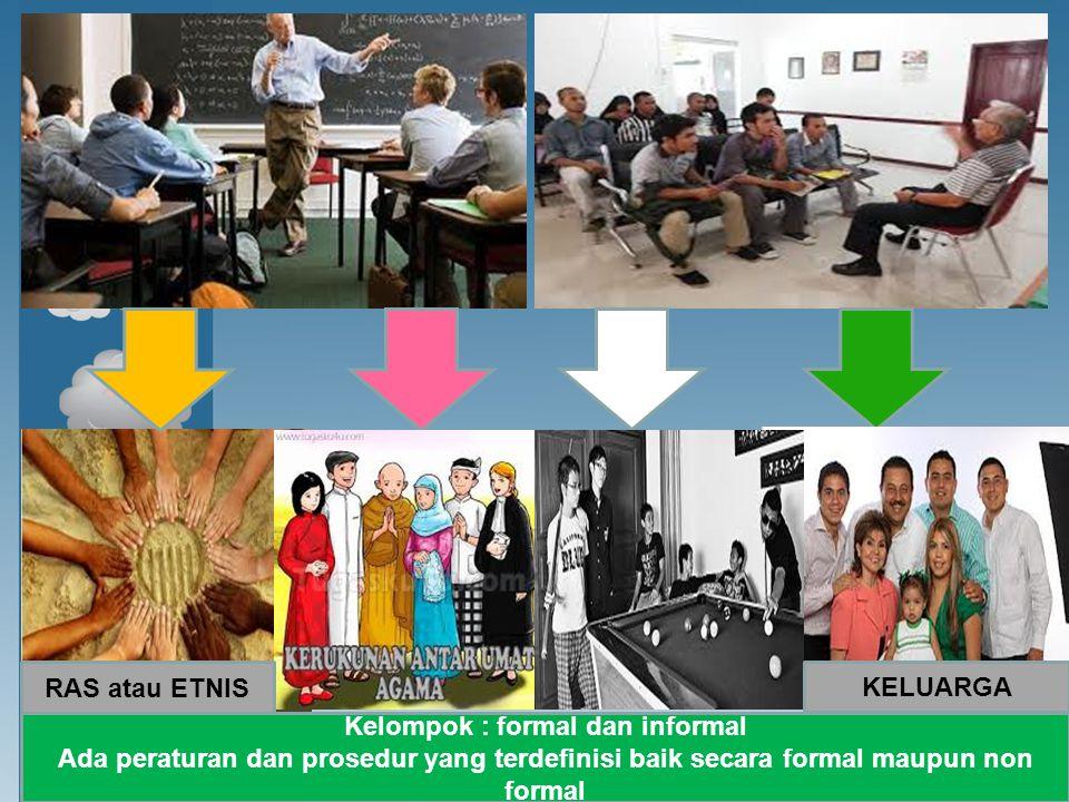 Kelompok : formal dan informal