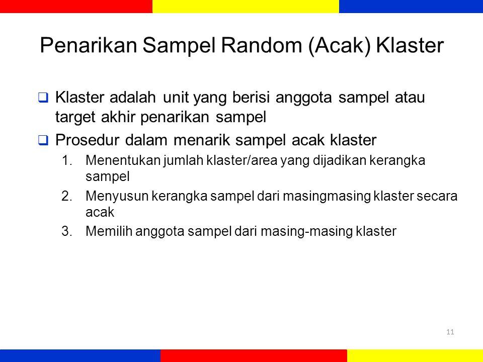 Penarikan Sampel Random (Acak) Klaster
