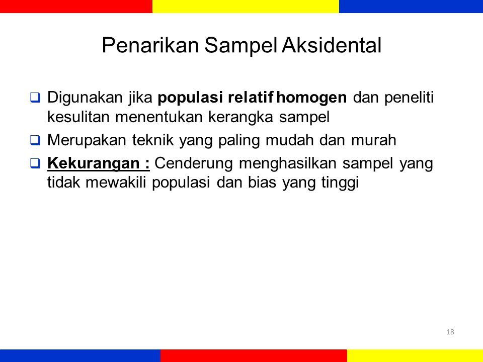 Penarikan Sampel Aksidental