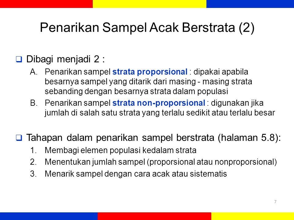 Penarikan Sampel Acak Berstrata (2)