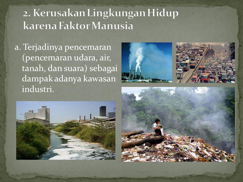 2. Kerusakan Lingkungan Hidup karena Faktor Manusia