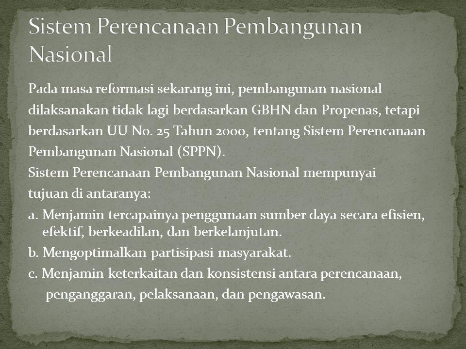 Sistem Perencanaan Pembangunan Nasional