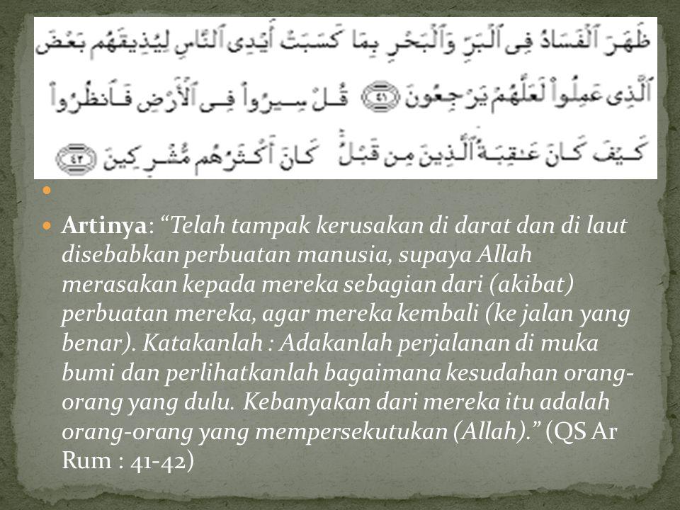 . QS. Ar Rum Ayat 41-42