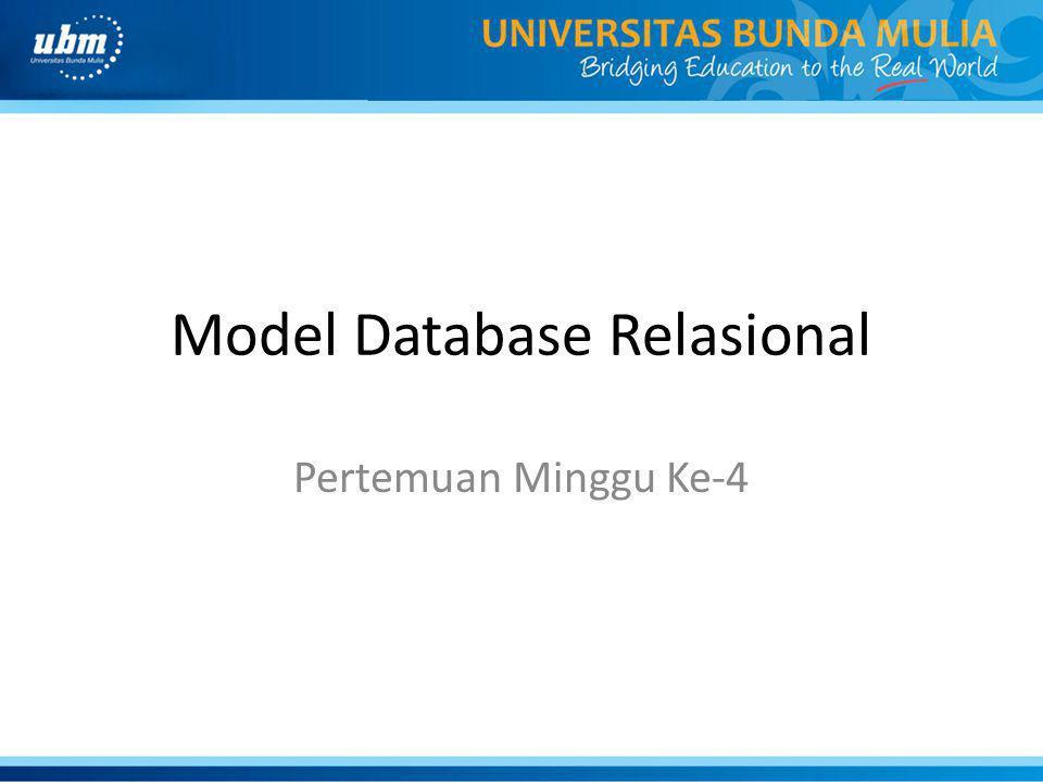 Model Database Relasional