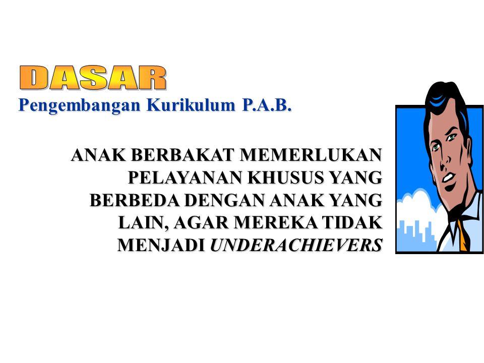 DASAR Pengembangan Kurikulum P.A.B.