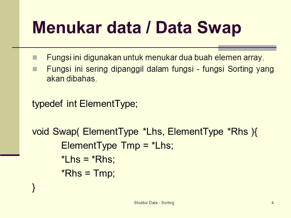 Menukar data / Data Swap