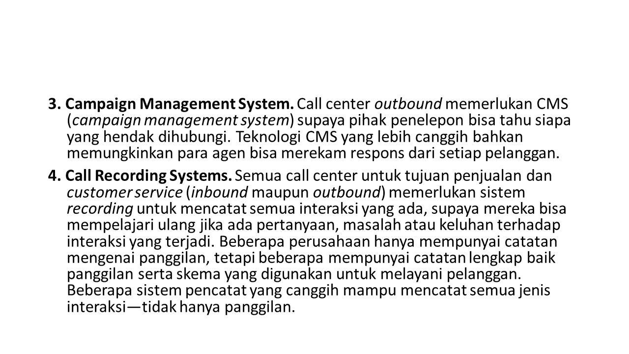 3. Campaign Management System