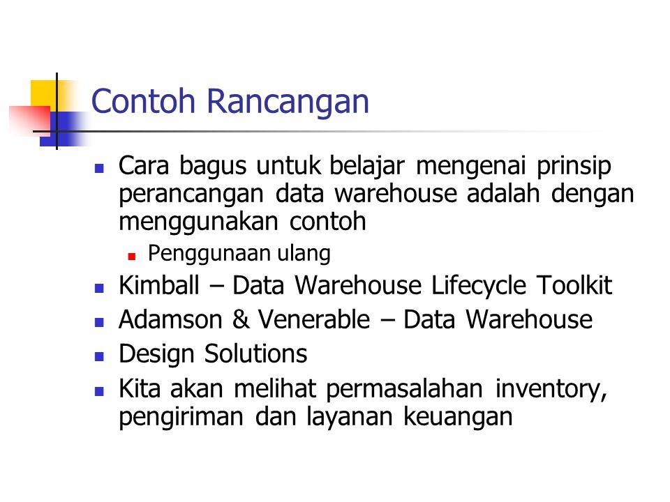 Contoh Rancangan Cara bagus untuk belajar mengenai prinsip perancangan data warehouse adalah dengan menggunakan contoh.