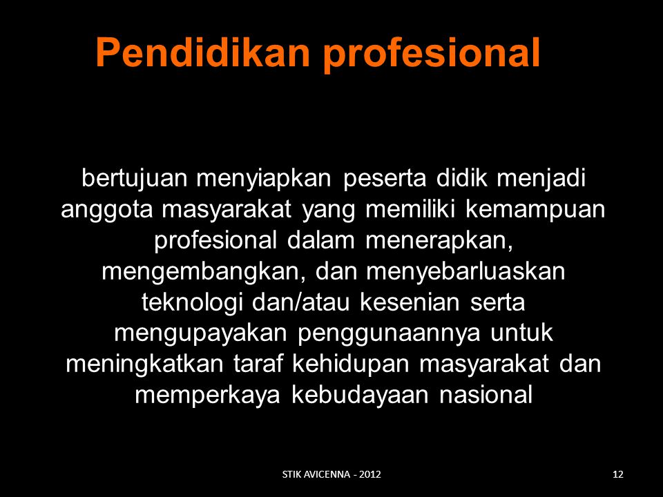 Pendidikan profesional
