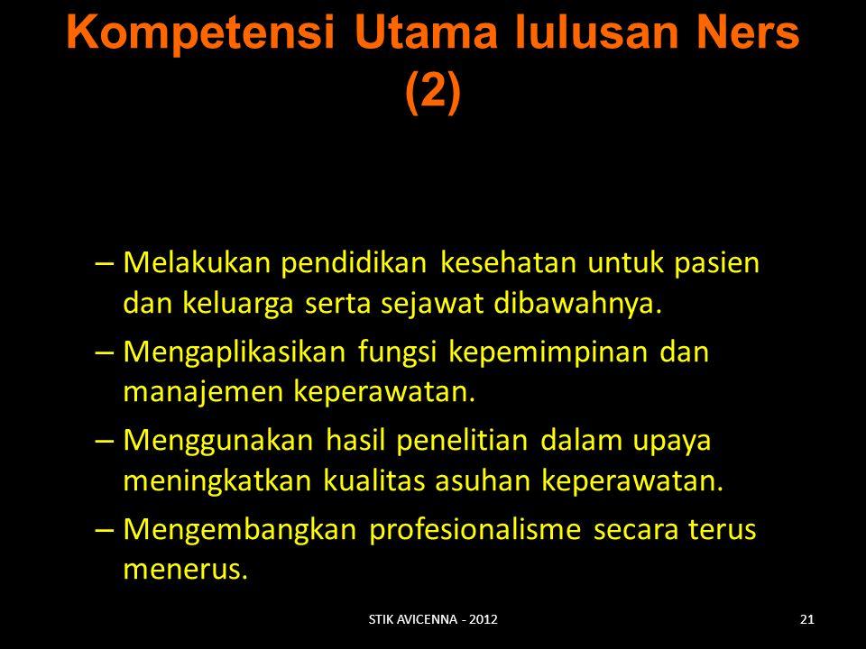 Kompetensi Utama lulusan Ners (2)