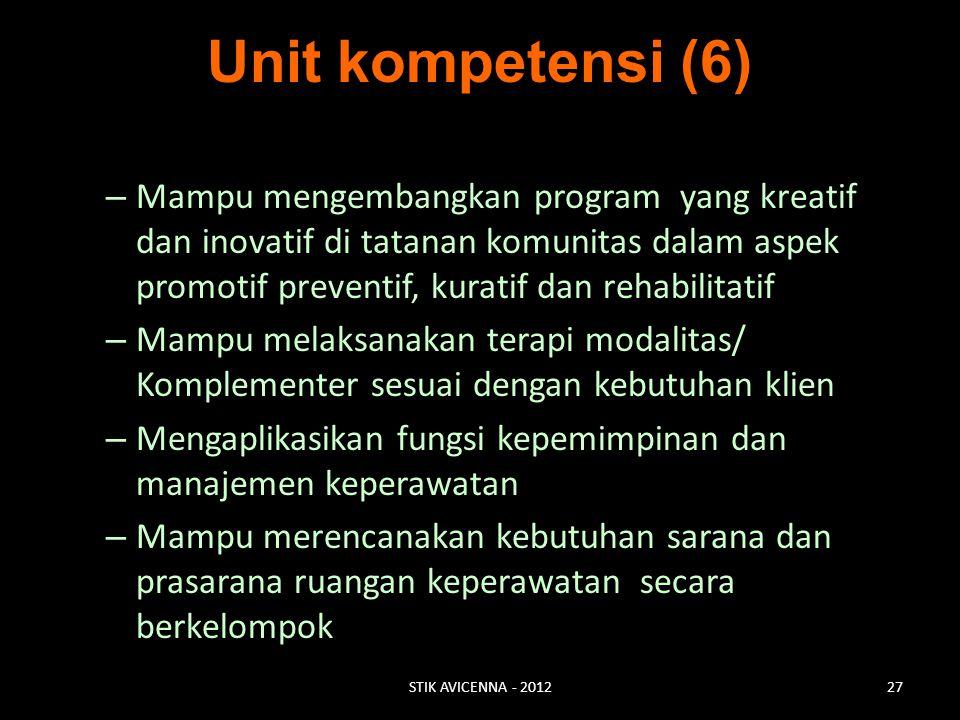 Unit kompetensi (6)