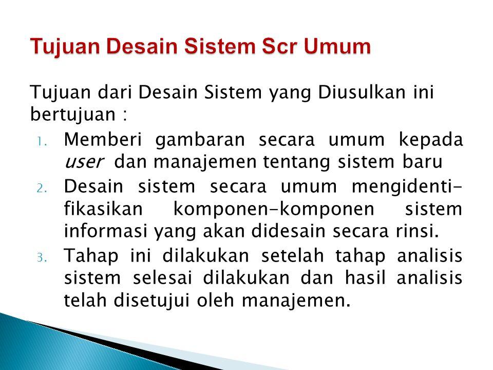 Tujuan Desain Sistem Scr Umum