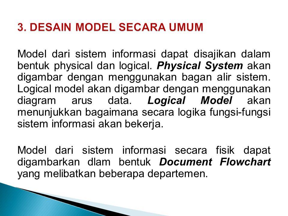 3. DESAIN MODEL SECARA UMUM