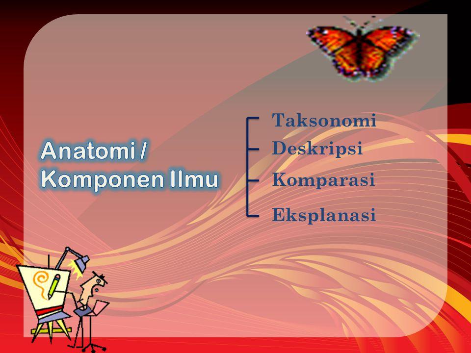 Taksonomi Anatomi / Komponen Ilmu Deskripsi Komparasi Eksplanasi