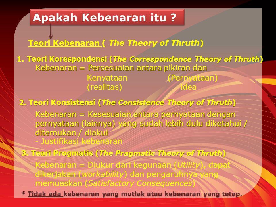 Apakah Kebenaran itu Teori Kebenaran ( The Theory of Thruth)