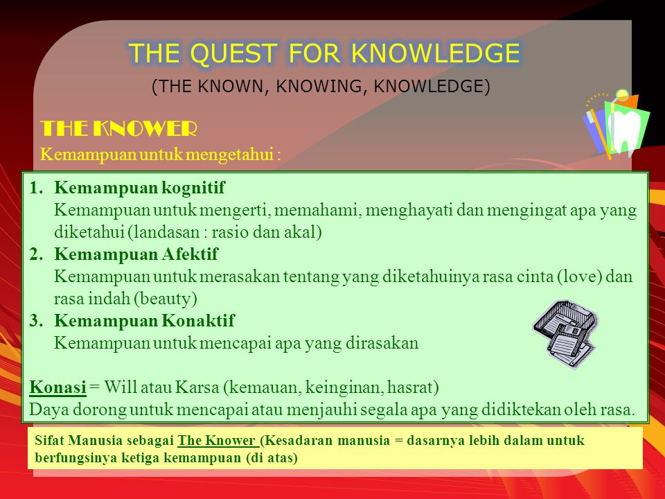 THE QUEST FOR KNOWLEDGE