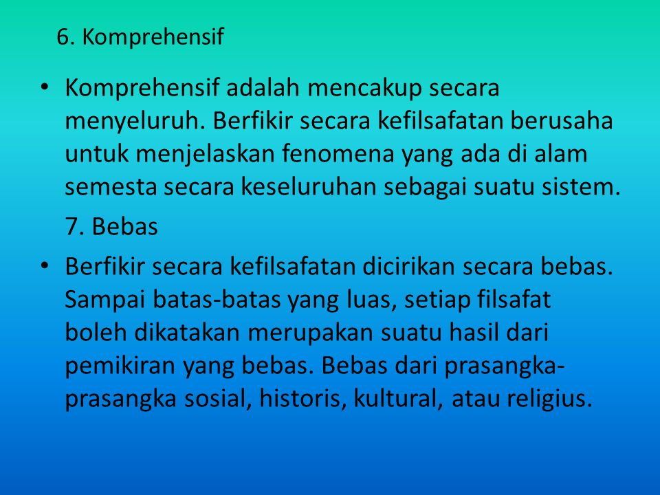 6. Komprehensif