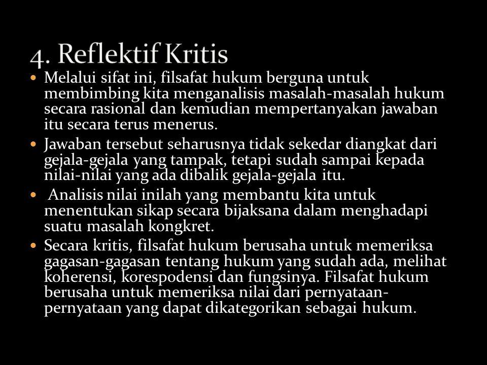 4. Reflektif Kritis