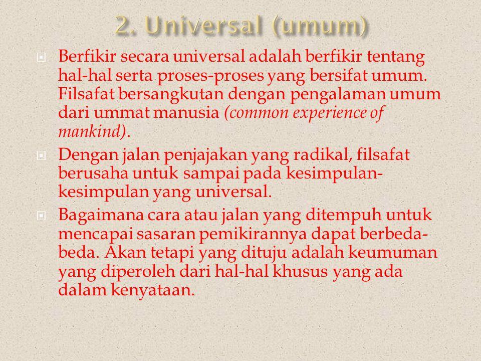 2. Universal (umum)