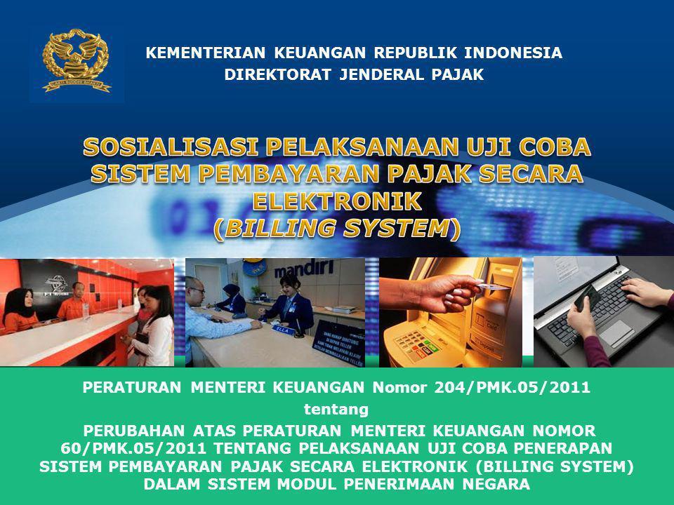 KEMENTERIAN KEUANGAN REPUBLIK INDONESIA DIREKTORAT JENDERAL PAJAK