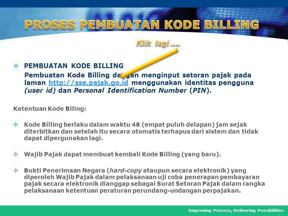PROSES PEMBUATAN KODE BILLING