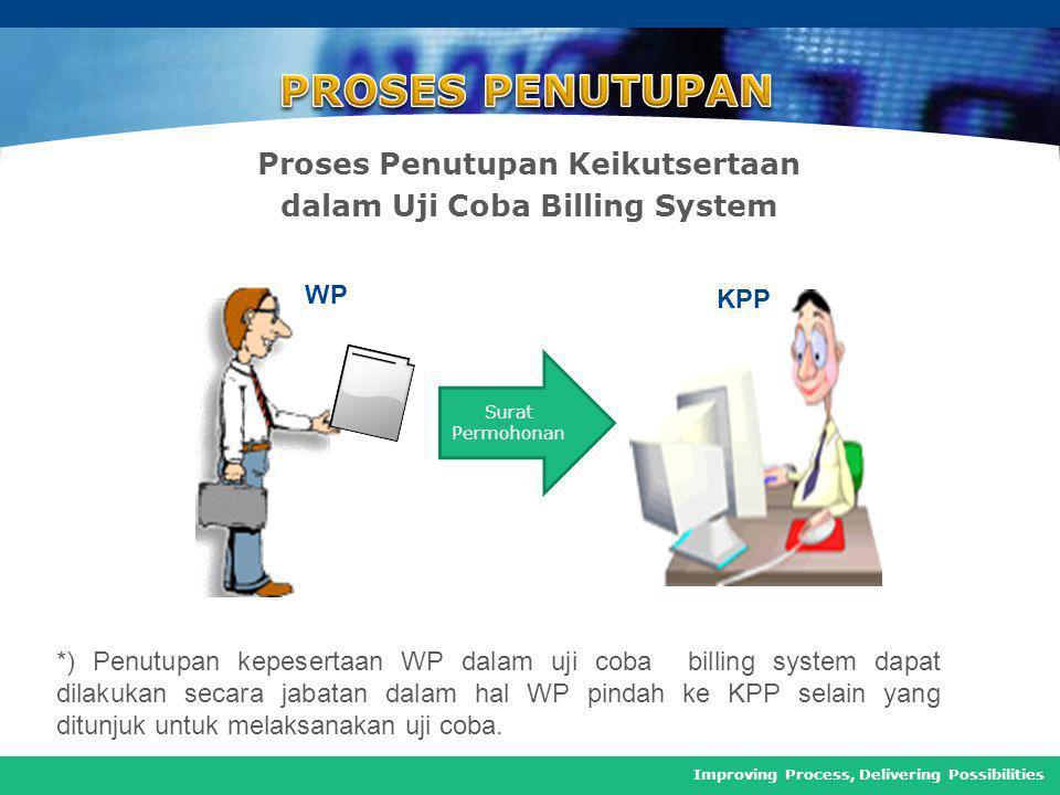 Proses Penutupan Keikutsertaan dalam Uji Coba Billing System
