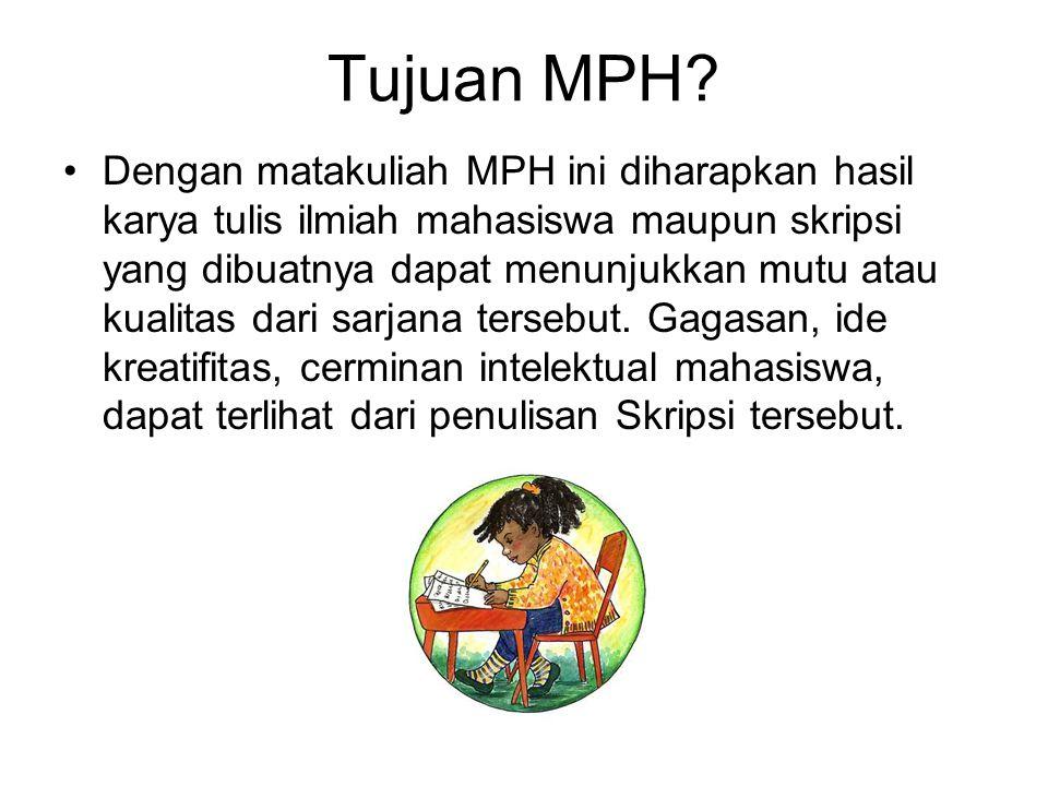 Tujuan MPH