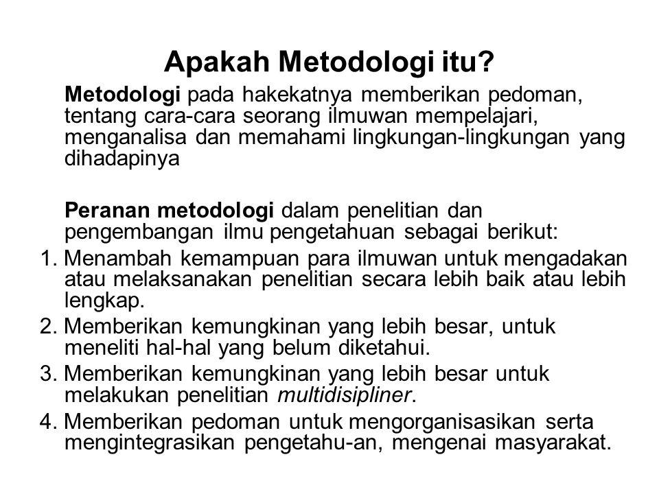 Apakah Metodologi itu