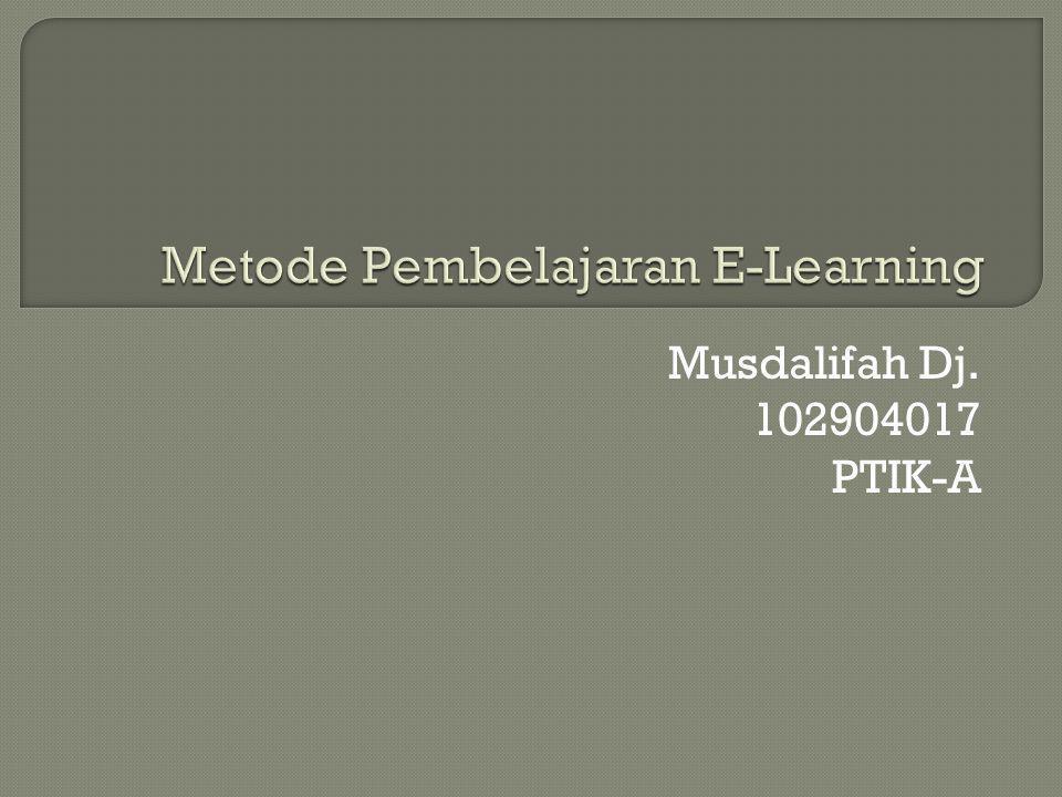 Metode Pembelajaran E-Learning