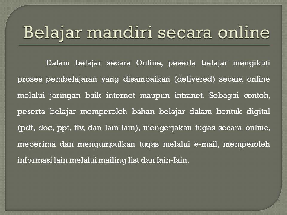 Belajar mandiri secara online