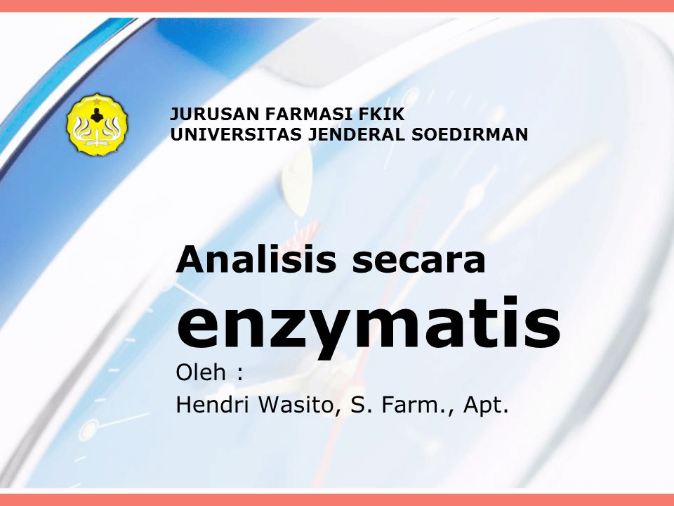 Analisis secara enzymatis
