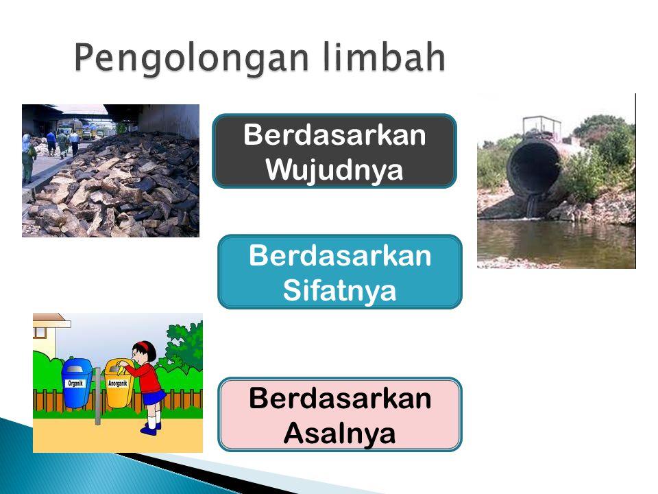 Pengolongan limbah Berdasarkan Wujudnya Berdasarkan Sifatnya