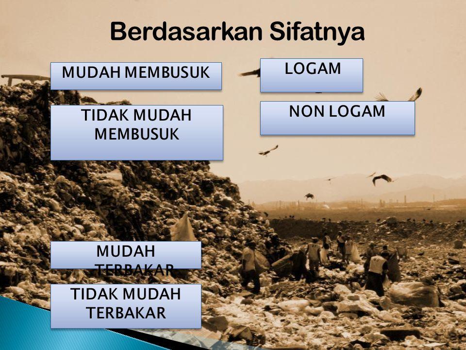 Berdasarkan Sifatnya LOGAM MUDAH MEMBUSUK NON LOGAM