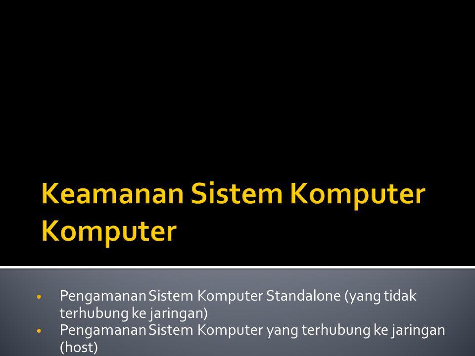 Keamanan Sistem Komputer Komputer