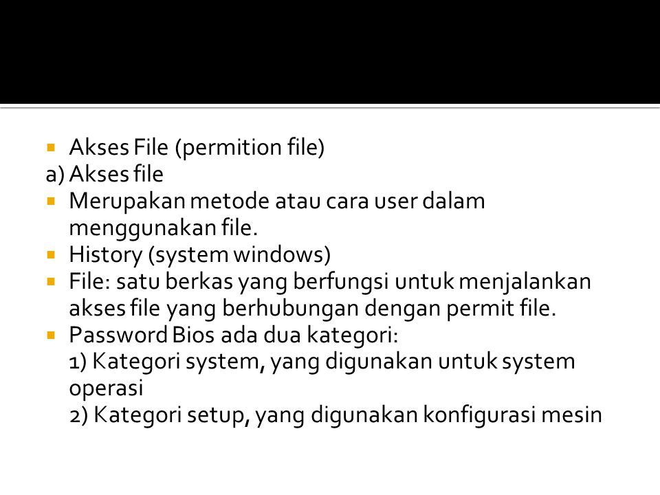 Akses File (permition file)