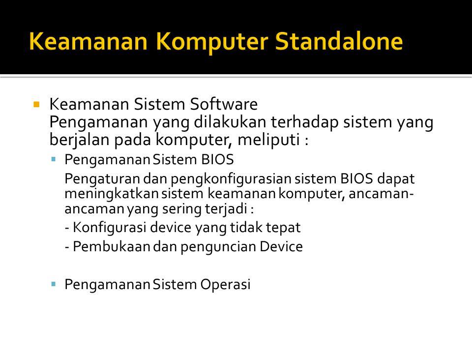 Keamanan Komputer Standalone