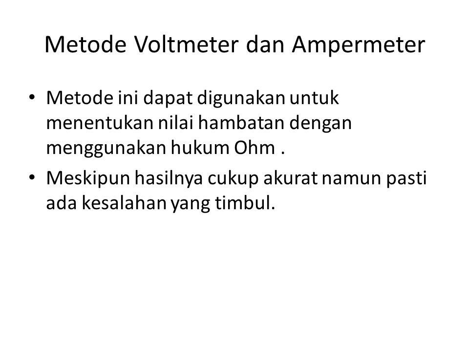 Metode Voltmeter dan Ampermeter