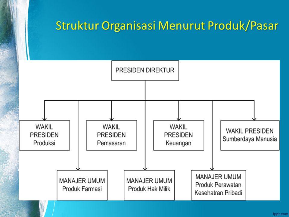 Struktur Organisasi Menurut Produk/Pasar