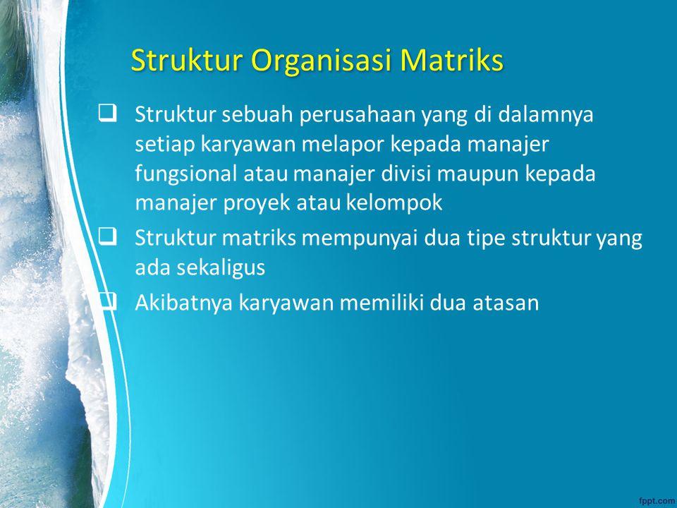 Struktur Organisasi Matriks