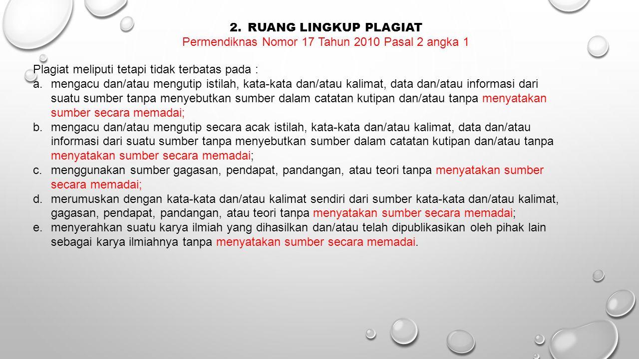 Permendiknas Nomor 17 Tahun 2010 Pasal 2 angka 1