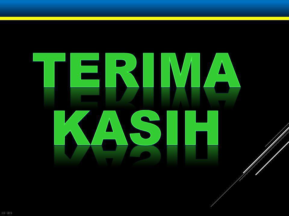 TERIMA KASIH WS - 2013